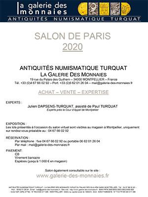 SALON NUMISMATIQUE PARIS 2020
