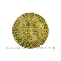 Écu d'or au soleil, 2ème type, 3ème émission de 1519, point 12ème Lyon