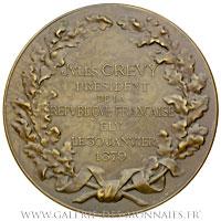 Médaille Jules GRÉVY Président 1879, par DUPUIS