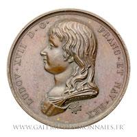 Médaille Louis XVII, 8 juin 1795, par THIOLIER