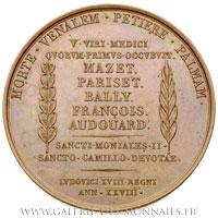 Médaille de l'aide française durant la peste de Barcelone de 1821, par GAYRARD