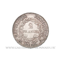 2 FRANCS Bonaparte Premier Consul, AN 12 A Paris