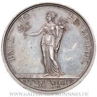 Médaille, la Paix de Lunéville AN IX (1801), par ANDRIEU