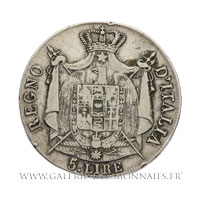 5 LIRE Regno d'Italia, 1810 B Bologne