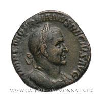 Sesterce frappé à Rome entre 249 et 251
