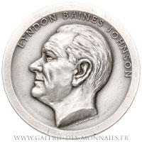 Médaille, investiture de Lyndon Baines JOHNSON 1965, par De WELDON