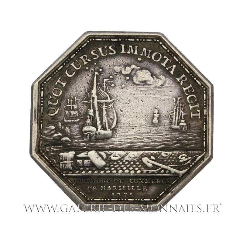 Louis xvi 1774 1793 jeton octogonal chambre de commerce de marseille 1775 par n gatteaux - Chambre des commerce marseille ...
