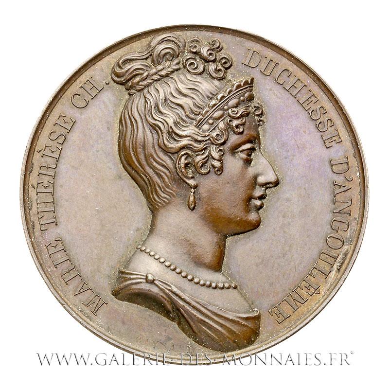 Marie-Thérèse Charlotte de France (1778-1851) Médaille MarieThérèse  Charlotte, Duchesse d'Angoulême, par GAYRARD