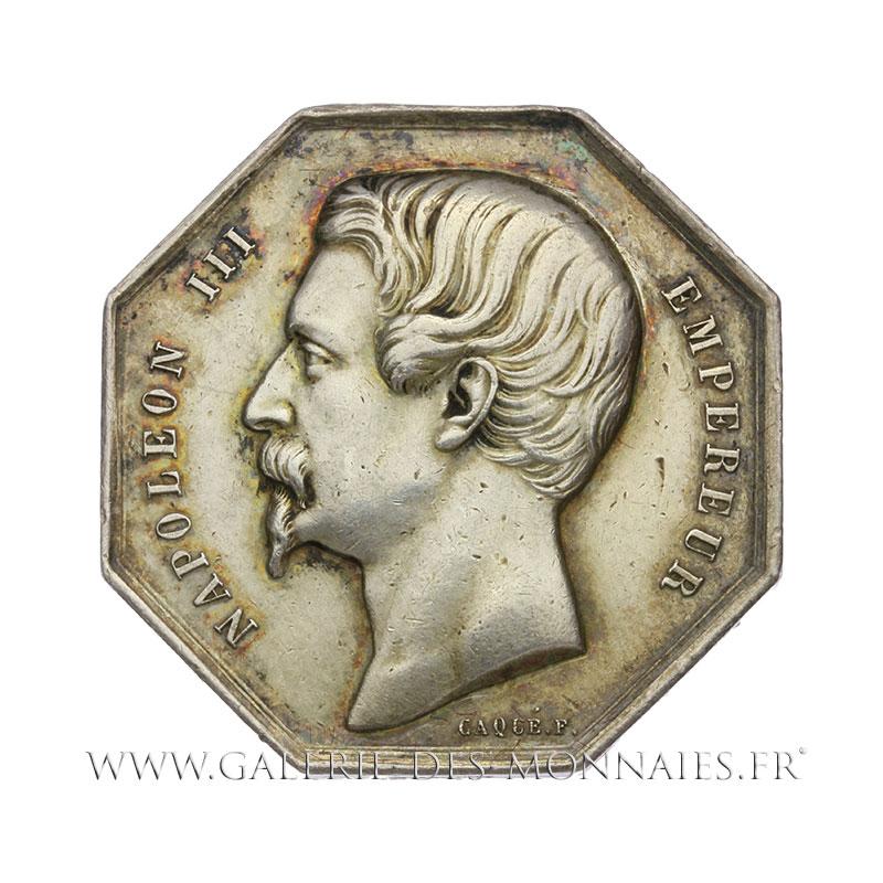 Napol on iii 1852 1870 jeton otogonal chambre de commerce de marseille par caqu et dubois - Chambre des commerce marseille ...