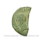 Demi-dupondius COL NEM, As de Nîmes, groupe I, vers 16 - 10 av. J.-C.