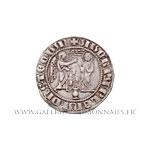 Salut d'argent frappé à Naples vers 1266-1285