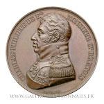 Médaille Charles Philippe de France Comte d'Artois 1814, par GAYRARD