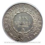 Écu de 6 Livres REPUBLIQUE FRANÇOISE, 1793 An II A Paris