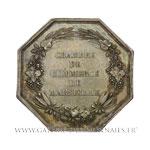 Jeton octogonal, Chambre de Commerce de Marseille 1775, frappe postérieure