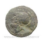 Unité de bronze ou sextan frappé à Locres ou Crotone