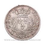 5 FRANCS Louis XVIII, buste nu, 1814 A Paris