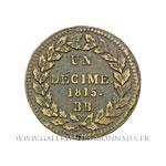 UN DÉCIME Louis XVIII 1815 BB Strasbourg, avec points