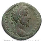 Sesterce frappé à Rome en 166.