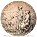Médaille argent centenaire de la Banque de France 1900, par ROTY.