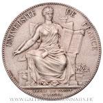 Médaille argent École de Droit d'Alger 1897 Droit Criminel par Dubois