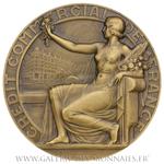 Médaille des trente ans de collaboration au CCF, par L. Bazor 1947
