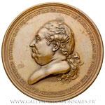 Médaille des victoires de Pierre André Bailli de SUFFREN 1784, par DUPRÉ
