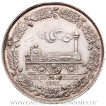 Médaille, Ligne de chemin de fer de Marseille à Avignon 1843, par BREMOND