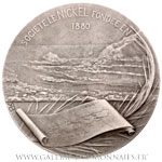 Médaille Société LE NICKEL, 1880 Nouvelle-Calédonie, par BAUDICHON