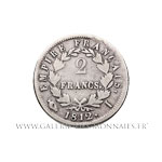 2 FRANCS au revers EMPIRE 1812 I Limoges