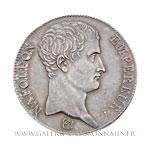 5 FRANCS Napoléon Empereur, calendrier grégorien, 1806 BB Strasbourg