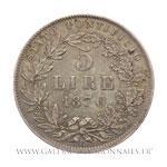 5 LIRE, An XXIV, 1870 Rome