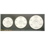 Coffret FDC de 3 essais de Bazor, 10, 20 et 50 Cents 1952