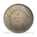 5 FRANCS Hercule, 1849 A Paris