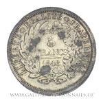 Piéfort 5 Francs, essai de Farochon, 1848