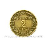 2 FRANCS Chambre de commerce 1920