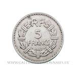 5 FRANCS Lavrillier en nickel 1937
