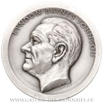 Médaille, investiture de Lyndon Baines JOHNSON 1965, par De WELDON